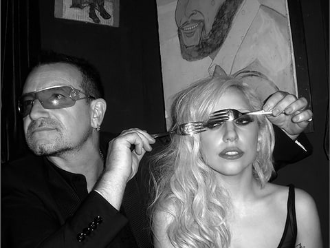 bono gaga mick rock