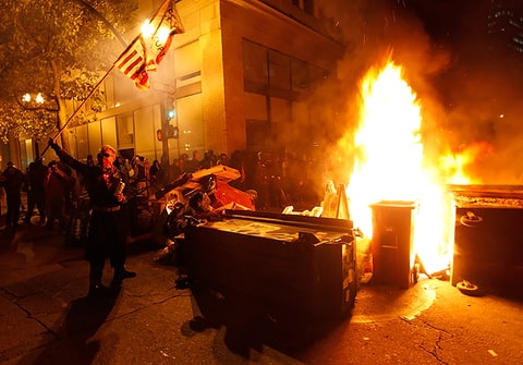 occupy oakland fire