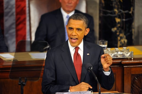 President Barack Obama delivers his State of the Union speech.