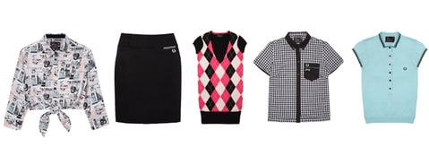 Pieces from the AW11 Fred Perry/Amy Winehouse Collaboration.