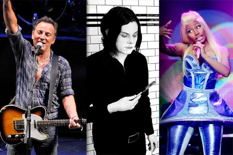 Bruce Springsteen, Jack White, Nicki Minaj
