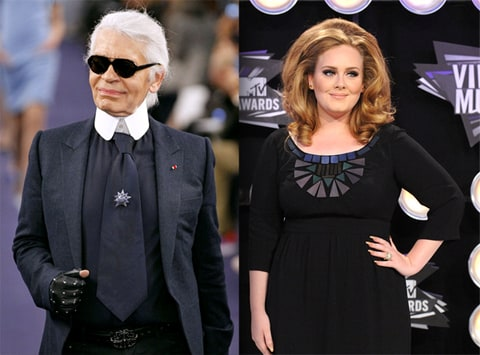 Karl Lagerfeld Calls Adele 'Fat' and sparks controversy.