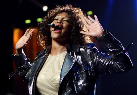 Whitney Houston performs at Acer Arena in Sydney, Australia.