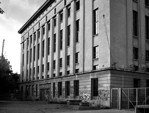 Berghain's exterior during the day.