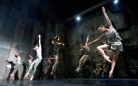 Dancers of Berlin's State Ballet perform the play 'mass' (Masse) at 'Berghain,' on May 2nd, 2013