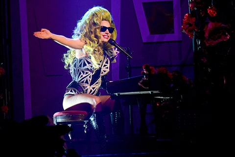 lady gaga roseland ballroom performs