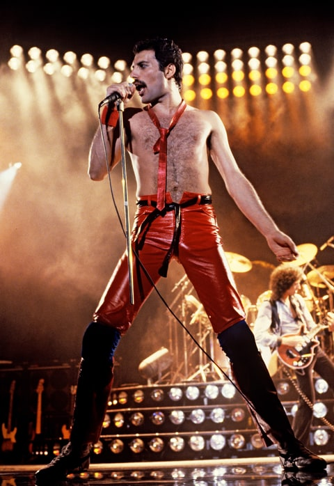 Freddie Mercury of Queen.