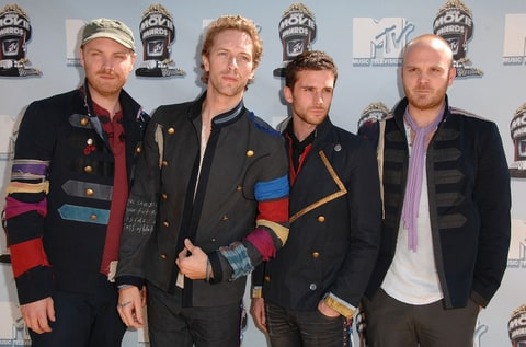 Coldplay at the 2008 MTV Movie Awards.