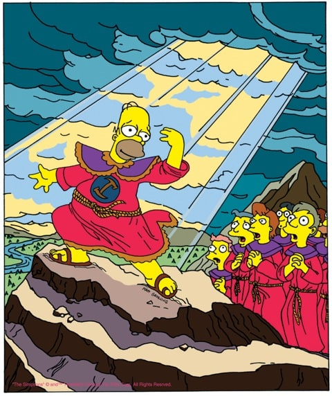 The sun shines on Homer in 'Homer the Great'