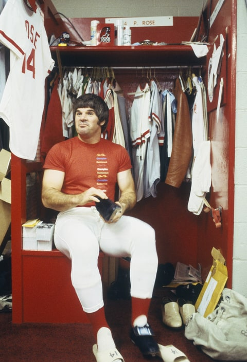 Pete Rose in locker room