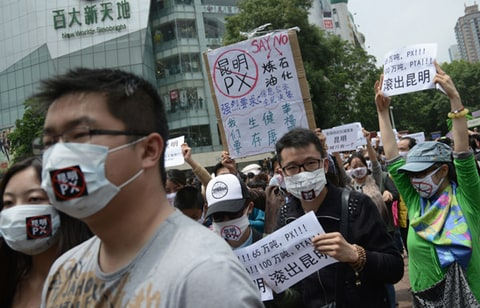 Protestors take to the streets in China