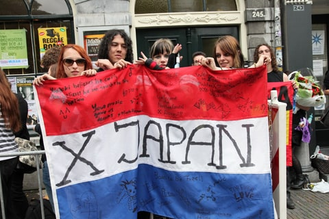 X Japan fans in the Netherlands.