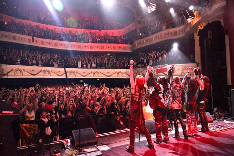 X Japan performing in the U.K.