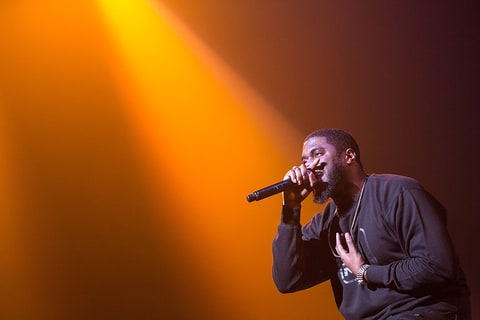 Big K.R.I.T. performing in Cedar Park, Texas.