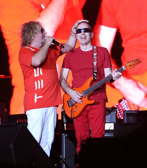 Sam Hagar and Joe Satriani