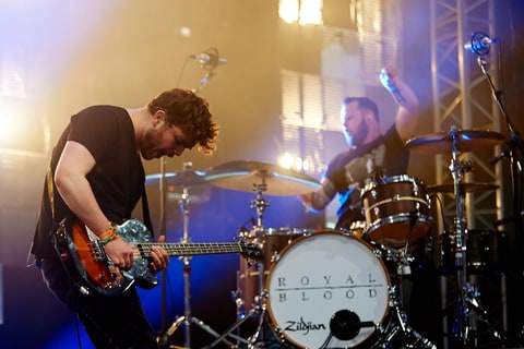 Mike Kerr and Ben Thatcher of Royal Blood.