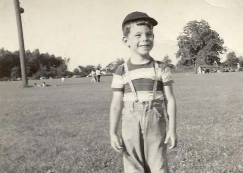 Stephen King in 1952, 3 years after his father walked out on his family.