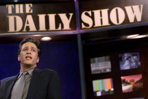 On the Daily Show set, 2000.
