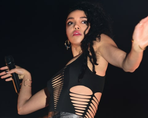 FKA Twigs performs in Lonndon