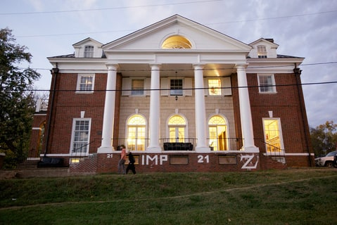 Phi Kappa Psi fraternity house on the UVA campus.