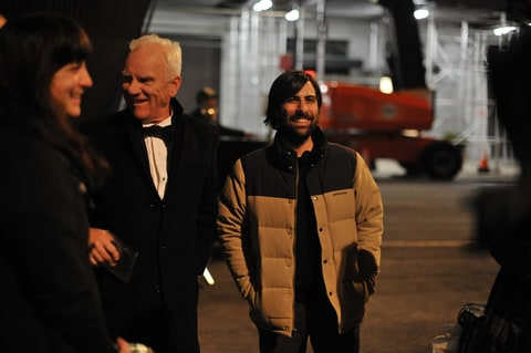 Malcolm McDowell and Jason Schwartzman