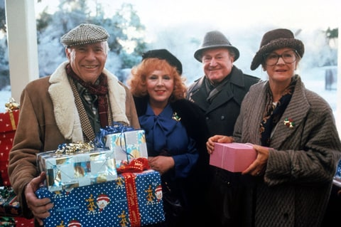 John Randolph, Doris Roberts, E.G. Marshall and Diane Ladd in  'National Lampoon's Christmas Vacation.'