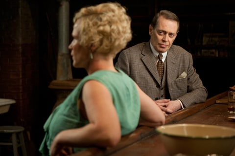Patricia Arquette and Steve Buscemi as Sally Wheet and Enoch 'Nucky' Thompson on 'Boardwalk Empire.'