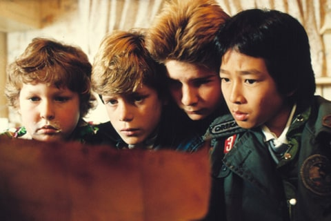 Jeff Cohen, Sean Astin, Corey Feldman and Jonathan Ke Quan as Chunk, Mikey, Mouth and Data in 'The Goonies.'