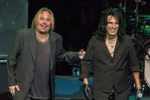 Vince Neil and Alice Cooper