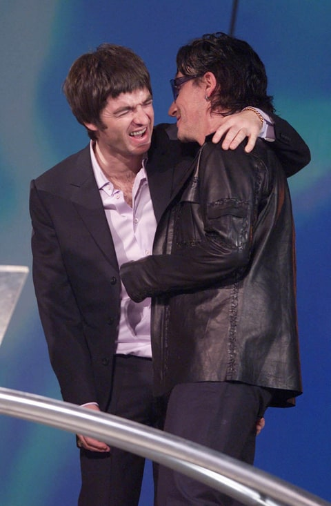 Noel Gallagher and Bono