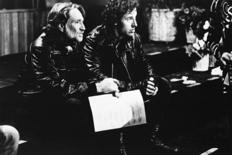 Willie Nelson, left, and Bruce Springsteen