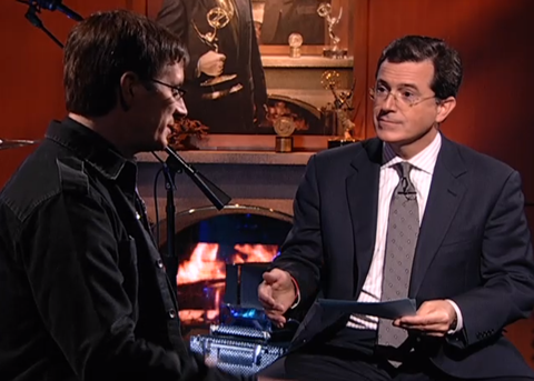 John Darielle and Stephen Colbert