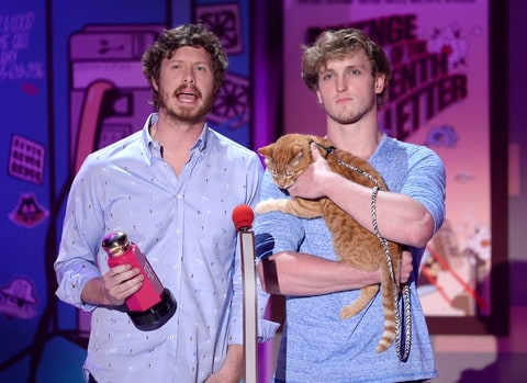 Anders Holm and Logan Paul