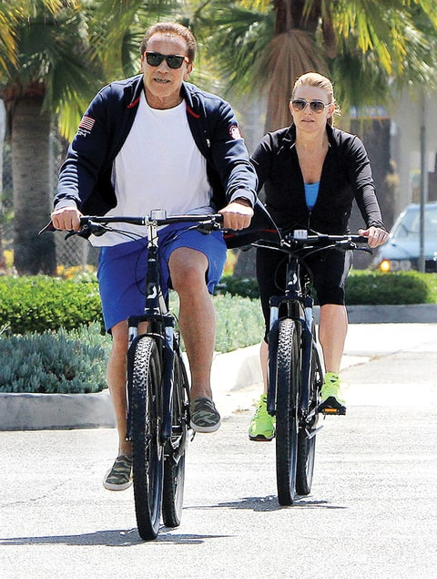 Arnold Schwarzenegger and Heather Milligan