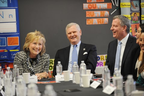 Hillary Clinton and Bill de Blasio
