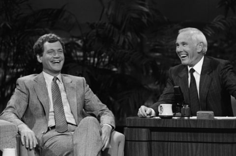 David Letterman and Johnny Carson