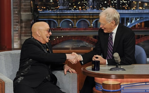 Paul Shaffer and David Letterman