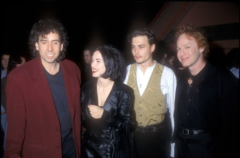 Tim Burton, Winona Ryder, Johnny Depp and Danny Elfman