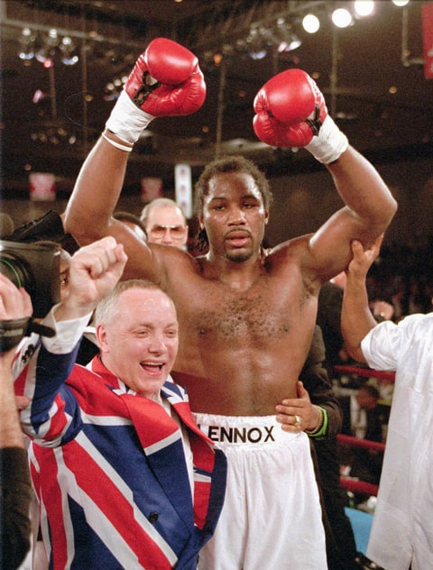 Lennox Lewis and Frank Maloney