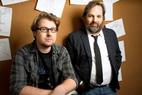 Justin Roiland, left, and Dan Harmon