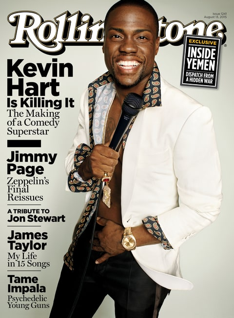 Kevin Hart on the cover of Rolling Stone