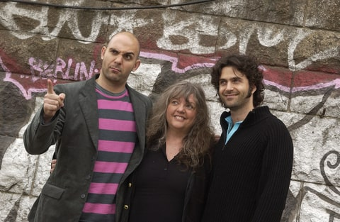 Ahmet, Gail and Dweezil Zappa.
