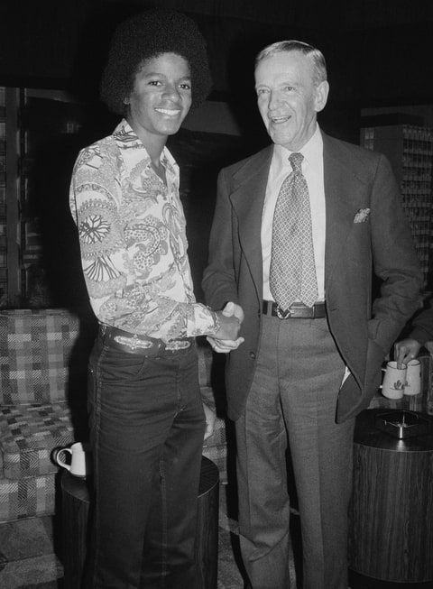Michael Jackson and Fred Astaire