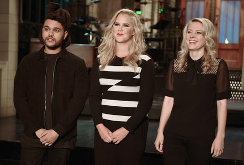 The Weeknd, Amy Schumer, and Kate McKinnon