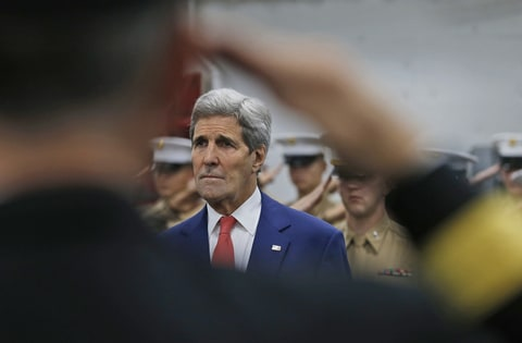US Secretary of State John Kerry, USS San Antonio, Norfolk, Va., November 10th, 2015