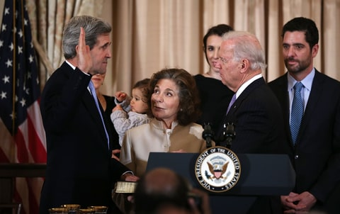 John Kerry; Sworn in; Joe Biden