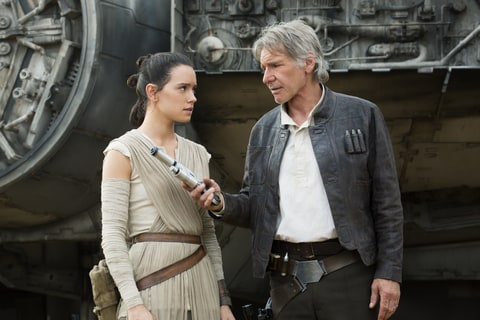 Harrison Ford; Daisy Ridley; Han Solo; Force Awakens; Star Wars