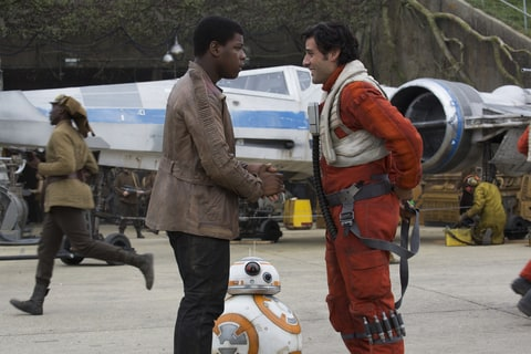 Oscar Isaac; John Boyega; Star Wars; Force Awakens
