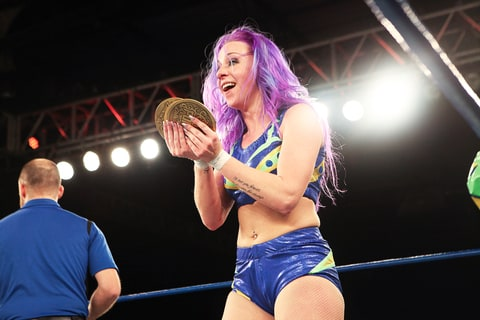 Chikara Grand Champion; Kimber Lee