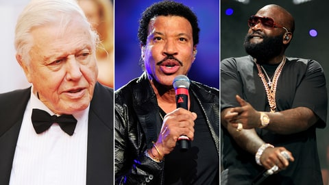 Lionel Richie; Rick Ross; David Attenborough